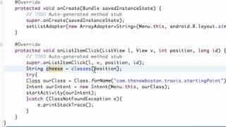 Android Application Development Tutorial   021   Finishing ListActivity