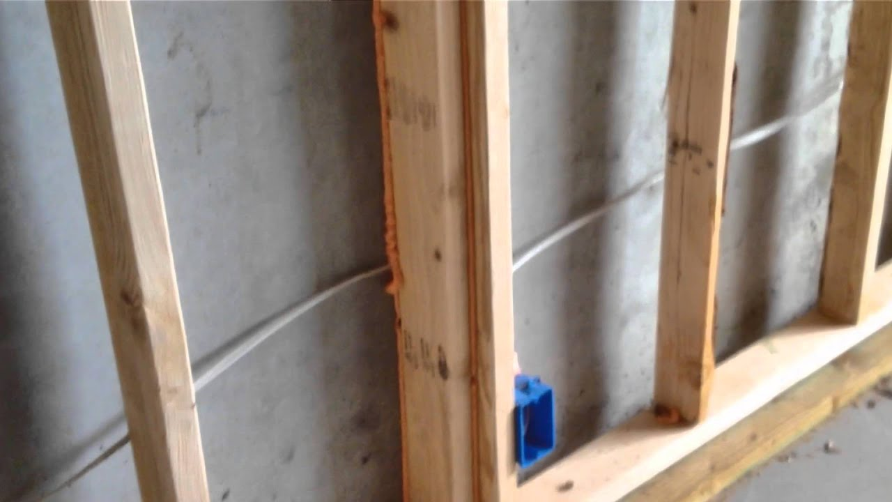 Building A Home 12b Framing Floating Walls In A Basement Youtube