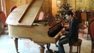 jouer au piano dans le grand hall d'un hôtel de luxe