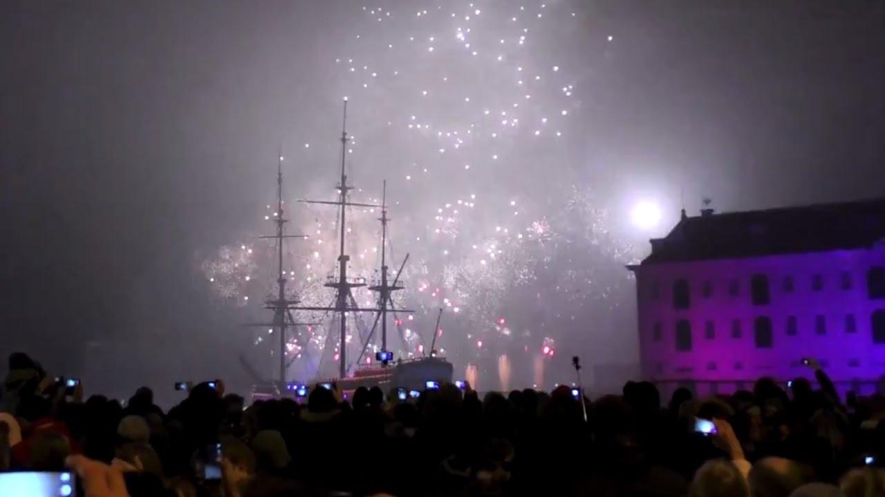 Sanadome Nieuwjaar.Amsterdam 2017 New Year Eve Firework Nieuwjaar Vuurwerk Scheepvaartmuseum