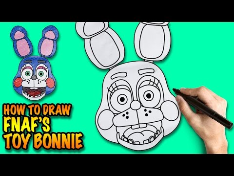 How to draw Toy Bonnie FNAF - Easy step-by-step drawing lessons