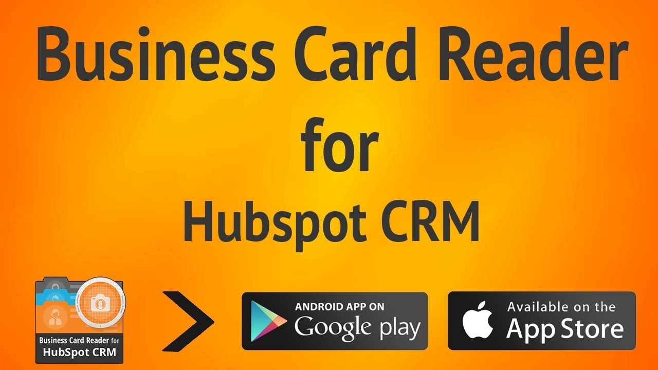 Easy way to add a lead to HubSpot CRM from business card - YouTube