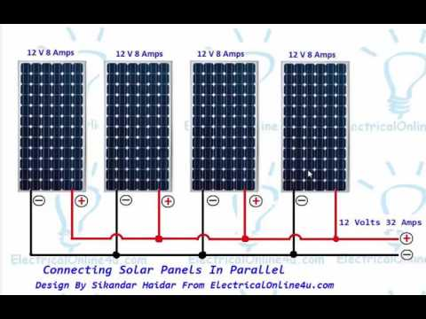 Connecting Solar Panels In Parallel Connection - YouTube