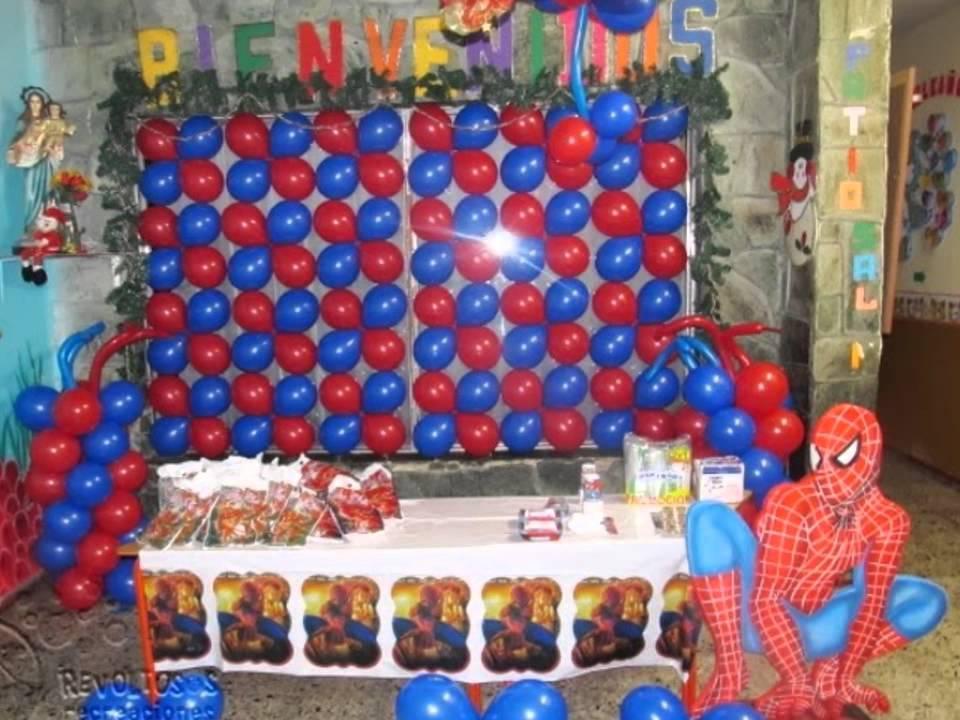 Decoracion spiderman con globos youtube - Ideas para cortinas infantiles ...