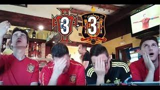 Reacciones PORTUGAL vs ESPAÑA 3-3 /MUNDIAL RUSIA 2018/(15-06-2018)