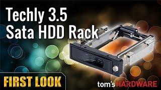 Techly 3.5 Sata HDD Rack | Cassetto estraibile per Dischi interni
