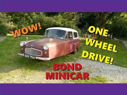 Real Road Test: Bond Minicar MkG twin-cylinder, one-wheel drive!
