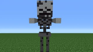 Minecraft Tutorial: How To Make A Skeleton Statue