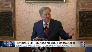 Gov. Abbott lifting mask mandate on March 10