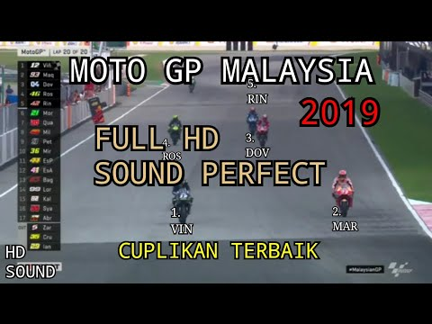 MOTO GP MALAYSIA SEPANG - Vinales - Marquez - Dovizioso 03 Nov 2019