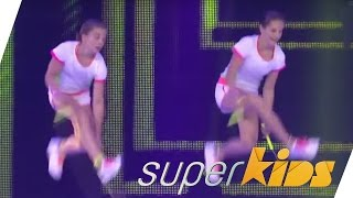 Amazing rope skipping dance! | Olivia Gessner & Anna Uhl | Superkids