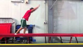 gli sciatori diventano acrobati-CESENATICO- Accademia Acrobatica