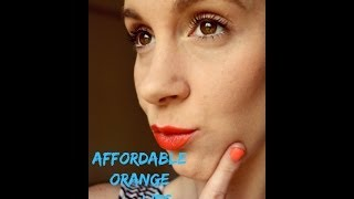 Affordable Orange Lip Thumbnail