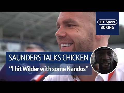 Billy Joe Saunders: I hit Deontay Wilder with chicken in Nandos!
