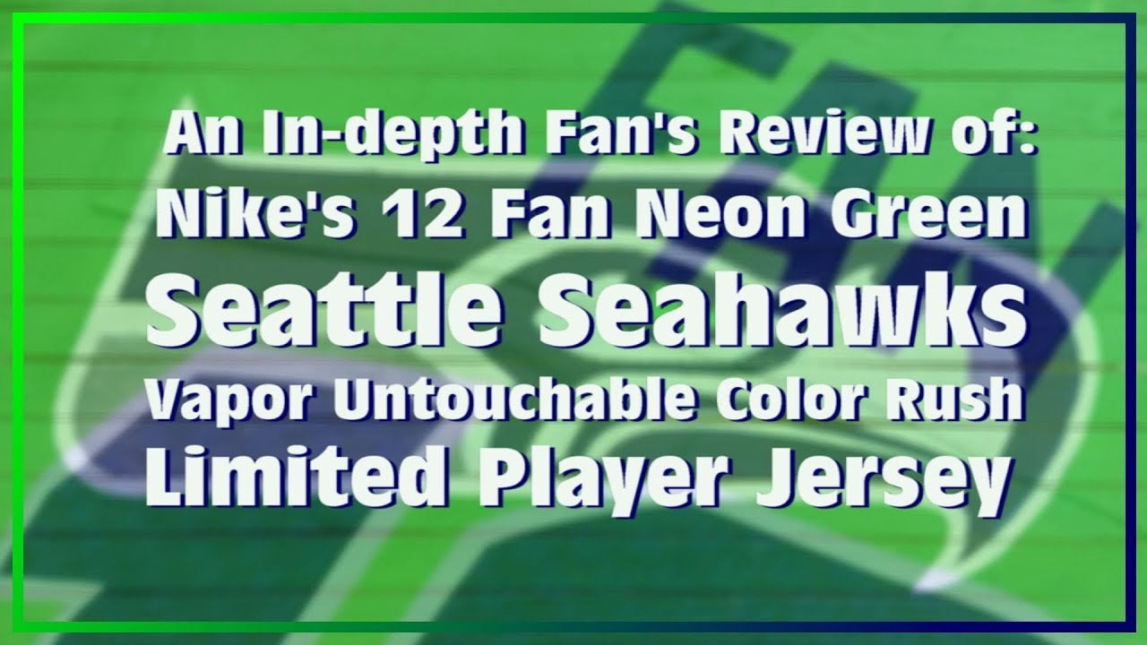 finest selection 1fa8a 9d5af An In-depth Review of the 2017 Seahawks Color Rush Jersey
