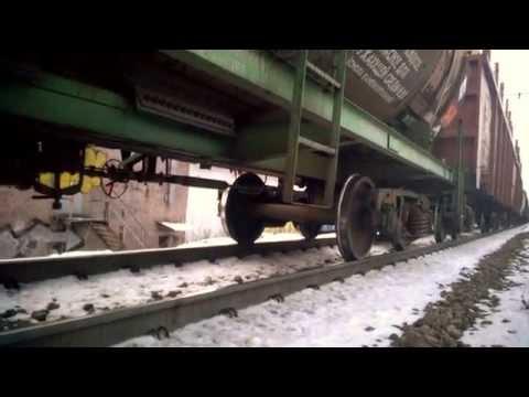 Грузовой поезд остановился на перегоне