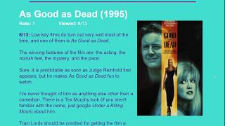 Movie Review: As Good as Dead (1995) [HD]