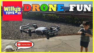 IELLO RC Quadcopter DRONE with HD Camera FUNNY KIDS TOY REVIEW - Willy
