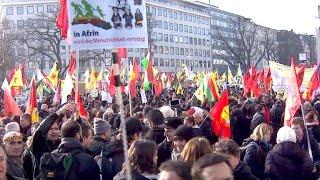 Gegen Syrien-Offensive: Kurden-Protest in Köln
