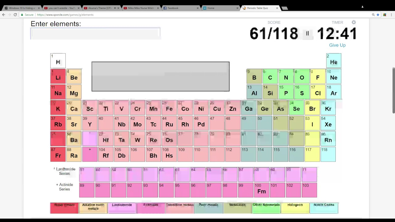 Periodic table quizzes gallery periodic table images periodic table quizzes image collections periodic table images periodic table quiz google chrome 1 26 2017 gamestrikefo Image collections