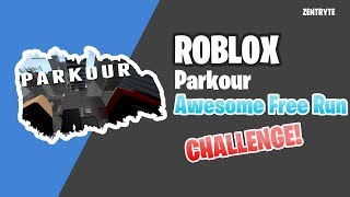 Roblox Parkour | Awesome free run challenge