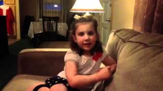 Four year old girl sings Oh, Mary We Crown You