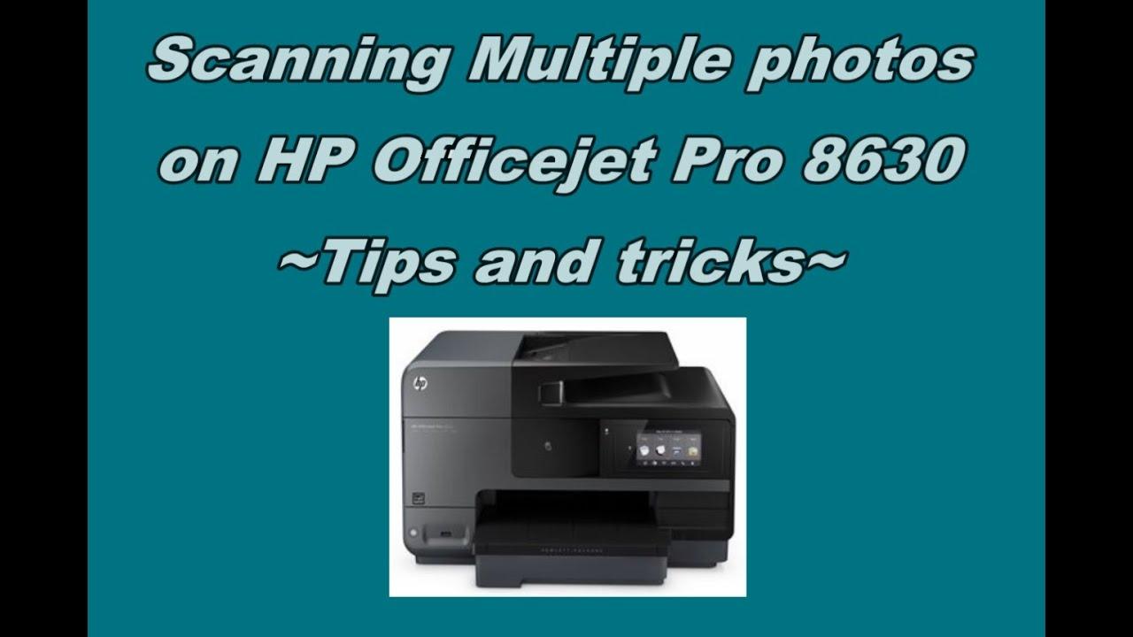 HP Officejet Pro 8620 | 8630 : Scanning multiple photos