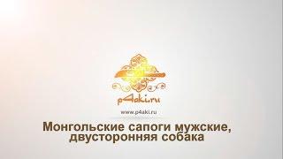 Монгольские сапоги мужские двусторонняя собака