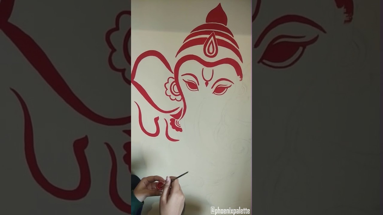 Lord Ganesha Wall Painting Time Lapse By Meeta