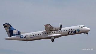 Azul - ATR 72-600 (PR-TKJ) - Pouso e decolagem - Aeroporto de Sinop MT [SBSI/OPS]