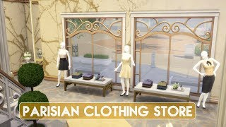 Sims 4 | House Building | Parisian Clothing Store (Get Famous Expansion Pack)