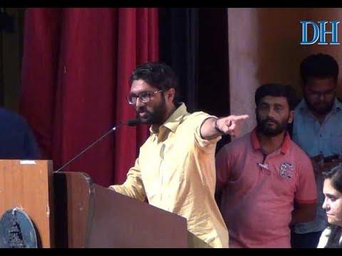 Jignesh Mevani speaks at the Gauri Day event organised by Gauri Memorial Trust on her birthday