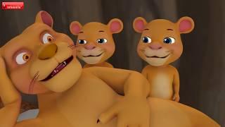 The Lion and the Fox Cub | Telugu Kids Stories | Infobells