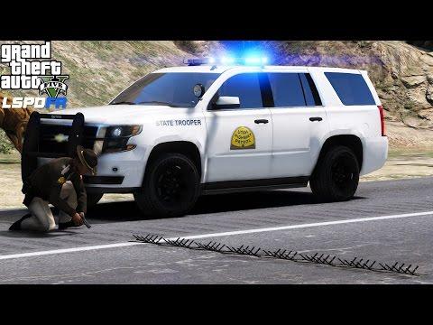 LSPDFR Police Mod 448 | Utah Highway Patrol Using Spike Strips To End A Pursuit | LivePD Reenactment