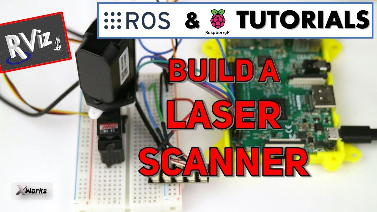 DIY Laser Scanner with TfMini and Raspberry Pi | ROS Tutorial for beginners  #7