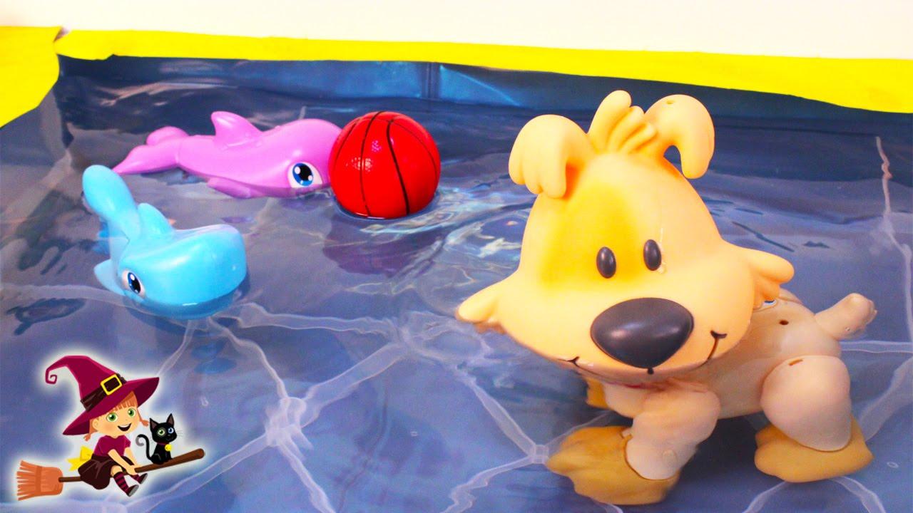 Perro Interactivo Que Anda Y Nada En El Agua Juguetes De Piscina Youtube