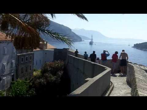 Dubrovnik - walk along old city walls - part 1