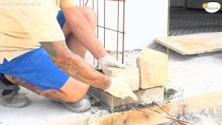 Costruire un muro in pietra parte 2