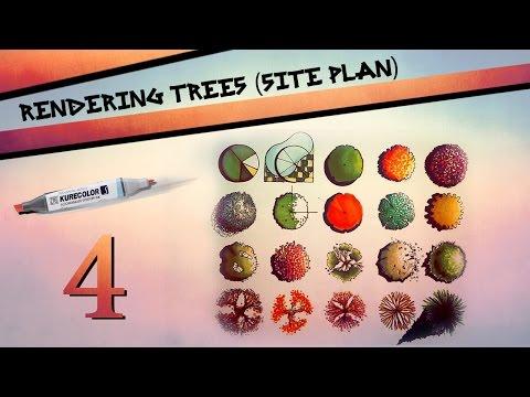 Rendering Trees in Site Plan