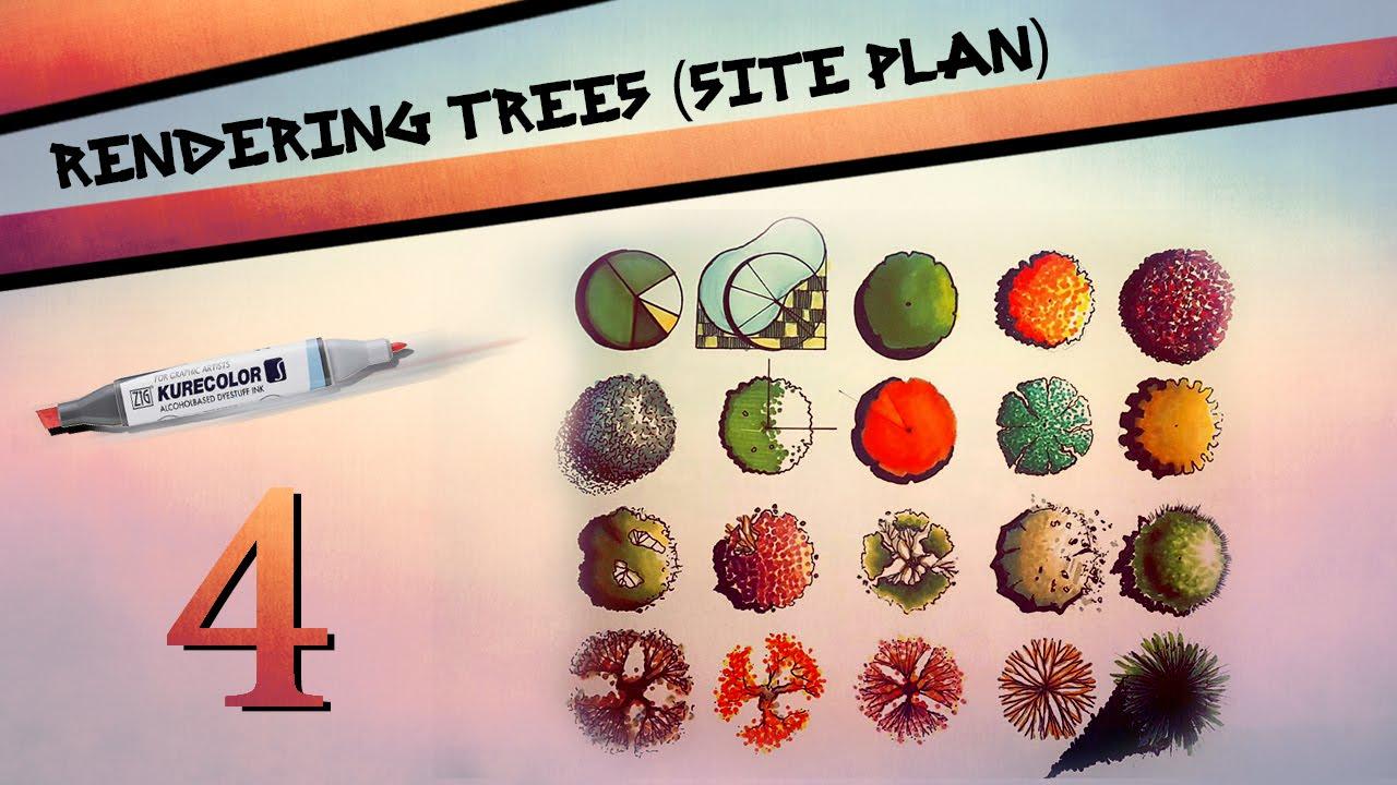 Rendering Trees In Site Plan Youtube