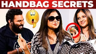 Costume Designer Amritha Ram Handbag Secrets Revealed by Vj Ashiq | What's Inside the Handbag?
