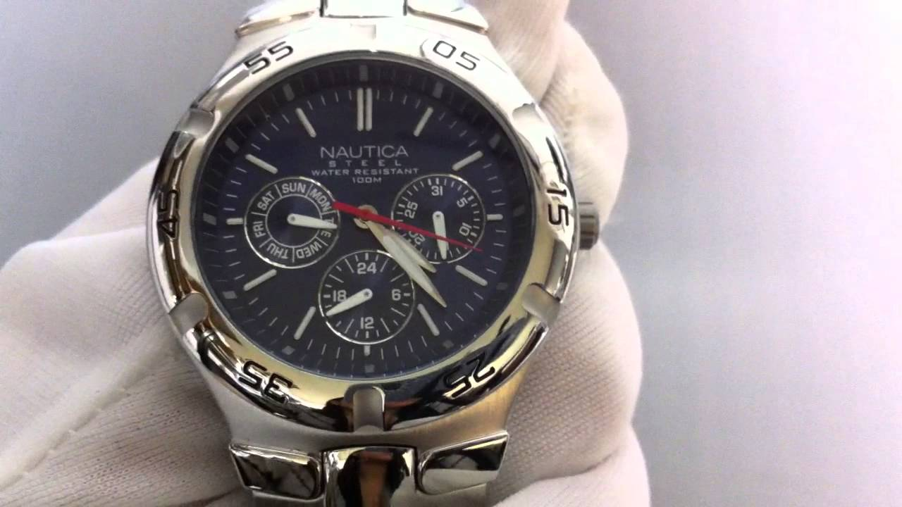 Men S Nautica Multifunction Watch N10061 Youtube