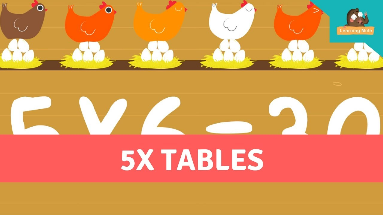 times table practice - times table for kids - 5 times table - five