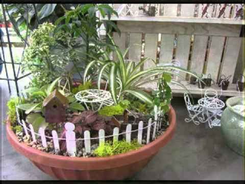 Diy decorating ideas for fairy garden youtube Diy home design ideas pictures landscaping