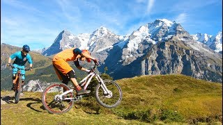 BroRide - MTB on Mountain View Trail Mürren