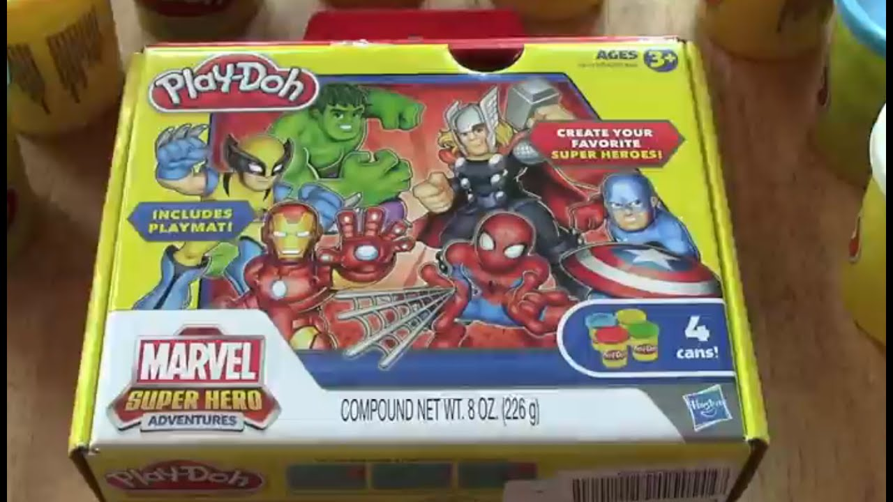 Play Doh Marvel Spiderman  Plastilina de Hombre araa y sus
