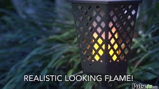 These Dancing Solar Flame Torch Lights cast a safe, soft, mood-enha...
