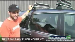 Thule Ski Rack Flush Mount Adapter Kit Video By Ors Racks Direct