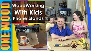 Woodworking Projects For Kids | Make A Phone Or Tablet Stand From Mulga Wood