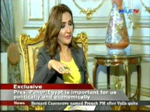 Slovenian President gives Exclusive Interview to Nile News 6 12 2016